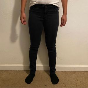 faded black hollister low rise jeggings (5S)